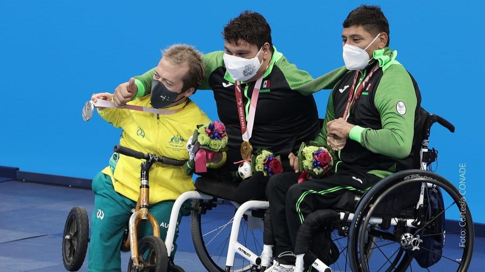 Arnulfo Castorena y Jesús Hernández medallistas juegos paralímpicos