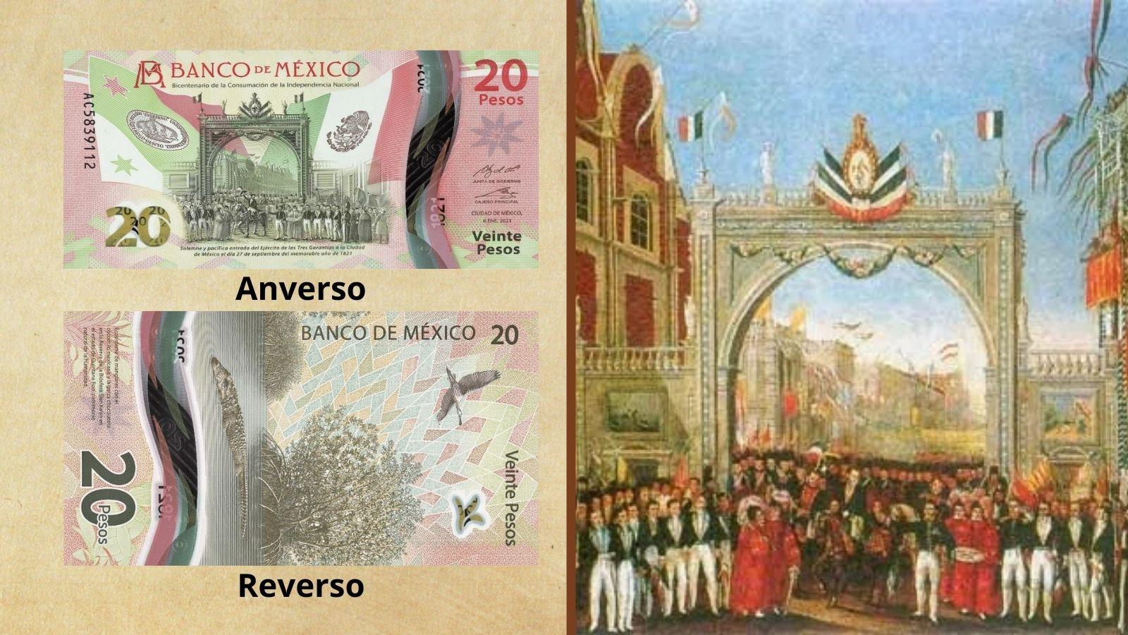 Nuevo billete de 20 pesos conmemorativo Independencia de México