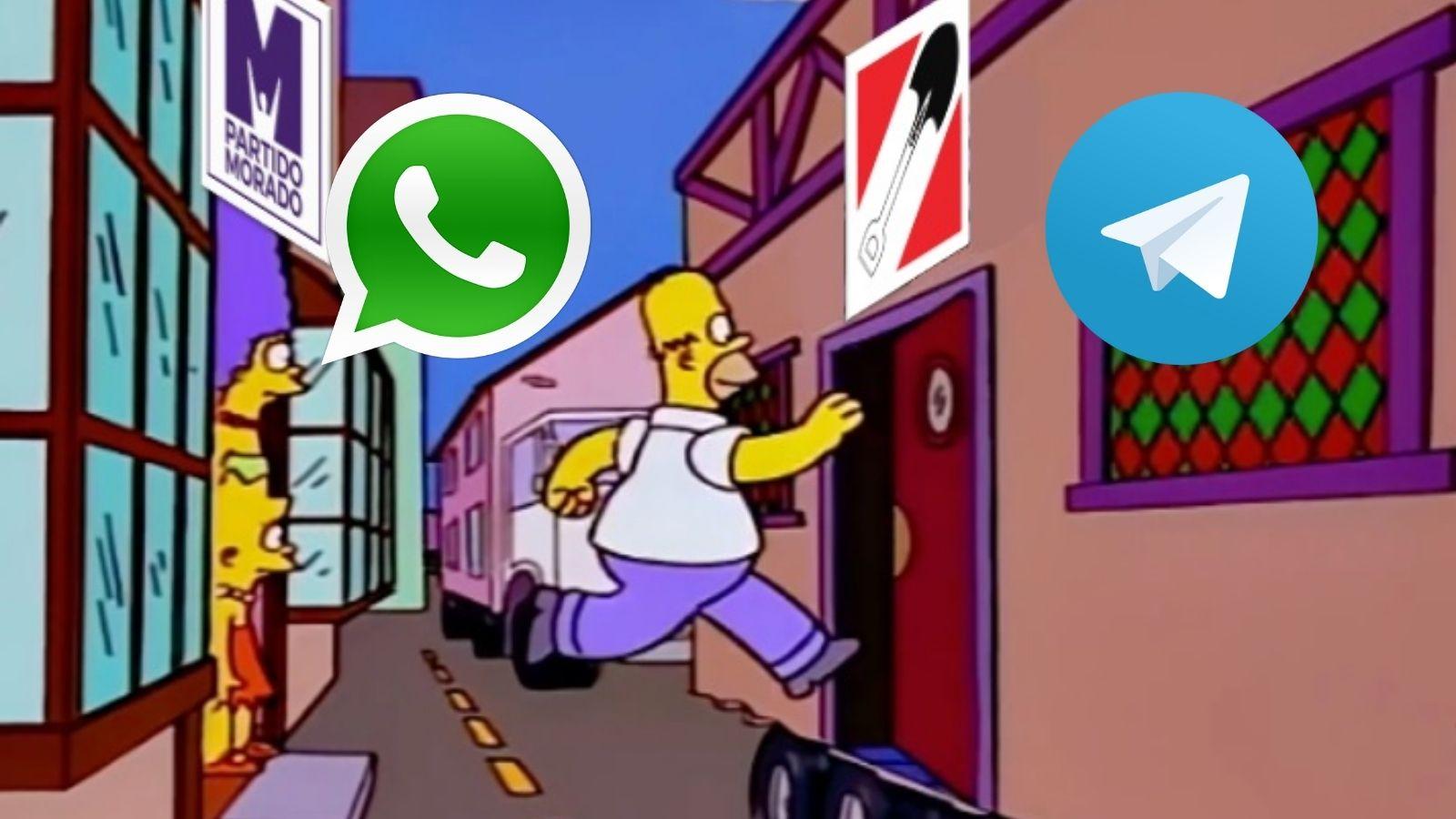 Telegram caída Facebook